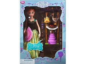 Disney Frozen Anna Deluxe Singing Doll Set