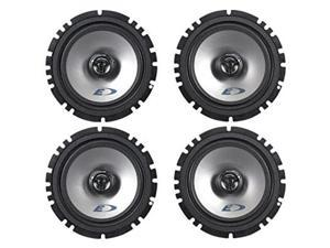 (2) Pairs Alpine SXE-1725S 6.5  80 Watt RMS 4 Ohm 2-Way Coaxial Car Audio Speakers