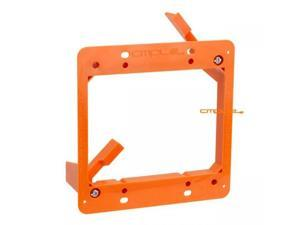 Cmple - Low Voltage 2 Gang Bracket Mount Dual Multipurpose DryWall Mounting Wall Plate