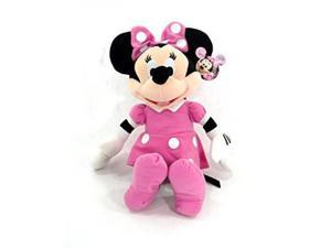 Disney Mickey Mouse Clubhouse - Minnie Mouse 15 Inch Plush w/ Pink Dress and Bow