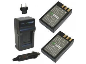 Wasabi Power Battery (2-Pack) and Charger for Nikon EN-EL9 and Nikon D40, D40x, D60, D3000, D5000