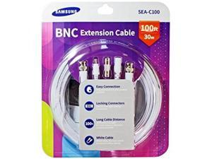 Samsung SEA-C100 Genuine 1080p BNC Power Cable 100ft w/ Coupler Compatible with SDH-C75100, SDH-C74040, SDH-B73040, SDH-B73045