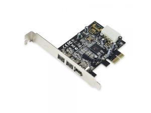 Syba SY-PEX30016 3 Port Firewire 1394B & 1394A PCIe 1.1 x1 Card TI XIO2213B Chipset