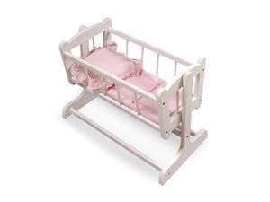 Badger Basket Heirloom Style Doll Cradle with Blanket & Pillow (fits American Girl dolls)