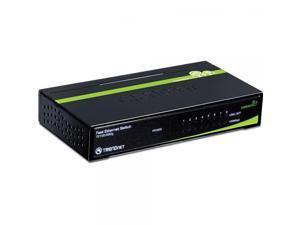 TRENDnet 8-Port Unmanaged 10/100 Mbps GREENnet Ethernet Desktop Metal Housing Switch, TE100-S80G