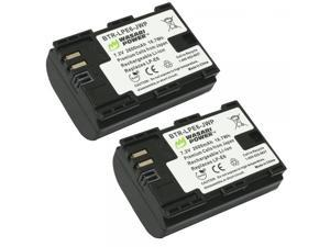Wasabi Power Canon LP-E6, LP-E6N Replacement (2 Batteries)