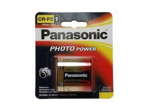 Panasonic CR-P2PA/1B Photo Power CR-P2 Lithium Battery, 1 Pack (Gold)