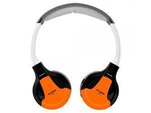 XO Vision Universal Infrared Wireless Foldable Headphones for In-Car TV, DVD, & Video Listening - Orange (IR630O)