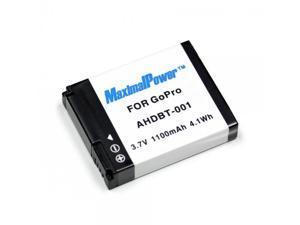 Maximal Power Replacement Battery for GoPro Hero HD HERO, HERO2 Pro Camera, Part# AHDBT-001, AHDBT001 DB GoPro AHDBT001