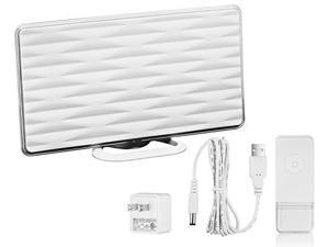 ViewTV VT-826DJ 50 Mile Range HDTV All-In-One Indoor HD Amplified Digital TV Antenna with Built-In Wireless Doorbell Receiver, USB Power Supply - White