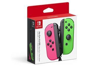 nintendo switch  joycon l/rneon green/neon pink splatoon 2 japan import