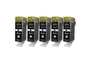gts compatible pgi 225 ink cartridge 4530b007 replacement pgi225pgbk ink cartridge value pack set of 5 black for pixma printer 5pack