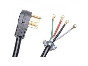 certified appliance accessories 4wire closedeyelet 50amp range cord, 10ft