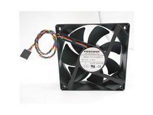 foxconn dc brushless fan pv123812dspf 01 p/n nn495 120mm x 38mm, 0.90 a, 12 v, 150 cfm, 4 wire, 5pin connector