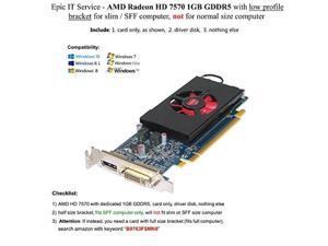 AMD Radeon HD 7570 1GB GDDR5 PCIe x16 DVI DisplayPort Video Card Dell 4C5DK Low Profile