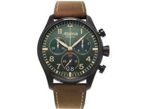 alpina men's al372gr4fbs6 smartimepilot analog display swiss quartz brown watch