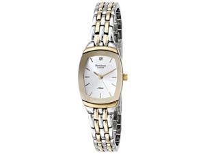 armitron women's 75/5195svtt diamond accented dial twotone bracelet watch