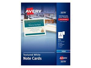 avery textured heavyweight note card and envelopes, 41/4 x 51/2, 50 per box 3379