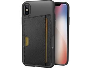 "silk iphone x wallet case  q card case slim protective kickstand cm4 iphone 10 grip cover  ""wallet slayer vol.2""  black onyx"