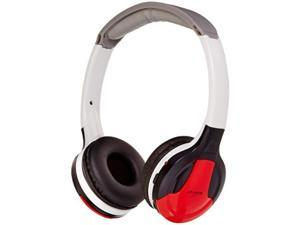 xo vision universal ir in car entertainment wireless foldable headphones, red