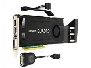 Nvidia Quadro K4000 3GB GDDR5 PCIe x16 Dual DisplayPort DVI-I GK104 Video Graphics Card GPU 900-52033-0000-000