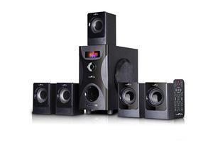 beFree Sound BFS-425-2016 5.1 Channel Surround Sound Bluetooth Speaker System in Black