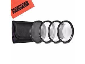 82mm Close-Up Filter Set (+1, +2, +4 and +10 Diopters) Magnificatoin Kit - Metal Rim for Canon Digital EOS Rebel SL1, T1i, T2i, T3, T3i, T4i, T5, T5i EOS 60D, EOS 70D, 50D, 40D, 30D, EOS 5D, EOS 5D Ma
