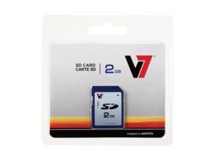 V7 VASD2GR-1N 2GB Secure Digital SD Card - Store / transportphotos, video and data