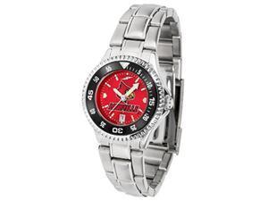 Louisville Cardinals Women's Stainless Steel Dress Watch