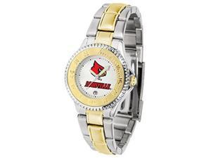 Louisville Cardinals Women's Two Tone Dress Watch