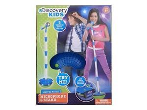 discovery kids lightup musical microphone and stand
