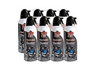 dustoff compressed gas duster, pack of 8