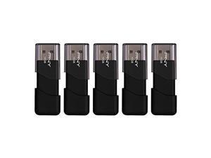 pny attache usb 2.0 flash drive, 16gb / black / 5 pack pfd16gx5att03mp