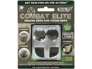 snakebyte trigger treadz combat elite thumb and trigger grips pack  green camo  xbox one