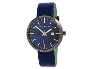 0b8fa316e ted baker men s  jack  quartz stainless steel and leather ...