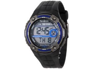 armitron sport men's sport watch with black rubber band