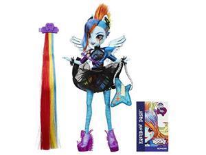my little pony equestria girls rainbow rocks rainbow dash rockin' hairstyle doll