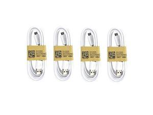 4 pack samsung oem 5feet micro usb data sync charging cables for galaxy s3/s4  nonretail packaging  white