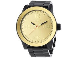 nixon a346010 mens corporal ss black gold watch
