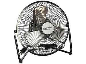 comfort zone portable floor, table, office fan | 9 inch, high velocity cradle fan