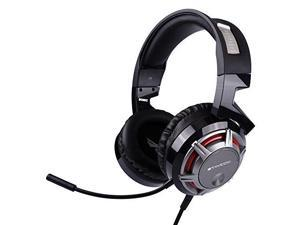 somic g926s 3.5mm stereo gaming headset for pc,laptop,phone,ps4,xboxone over ear wired headphone with mic, on ear volume control