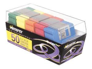 memorex pc formatted 3.5 inch diskettes  50 count rainbow pack discontinued by manufacturer