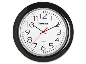 lorell wall clock with arabic numerals, 131/4inch, black frame