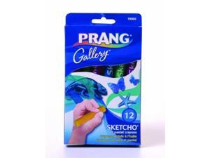 prang sketcho oil crayons, round sticks, 2.5 x 0.5 inches, 12color set 11660