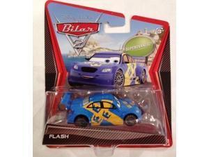 disney / pixar cars 2 movie 155 die cast car flash swedish racer nilsson super chase!