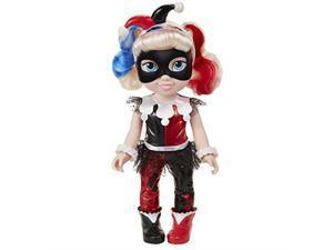 "dc super hero girls dc harley quinn toddler doll, 14"" tall, black/red"