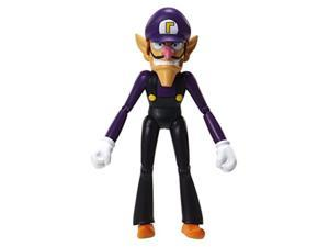"world of nintendo 91445 4"" waluigi with coin action figure"