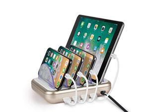 Merkury Innovations 4 8 Amp 4port Usb Charging Station Fast Charge Docking For Multiple Devices Multi