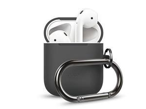 elago airpods hang case dark grey  extra protection added carabiner  for airpods case