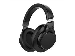 mixcder e8 active noise cancelling bluetooth headphones with microphone wireless over ear headset with stereo sound, deep bass, portable design for travel, tv, pc, phones  black